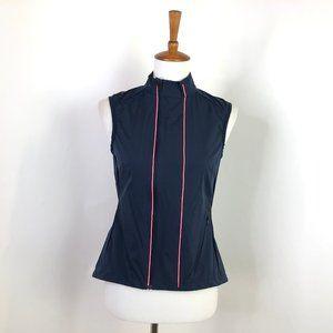 Rapha Gilet Cycling Nylon Blue Pink Pinstripe